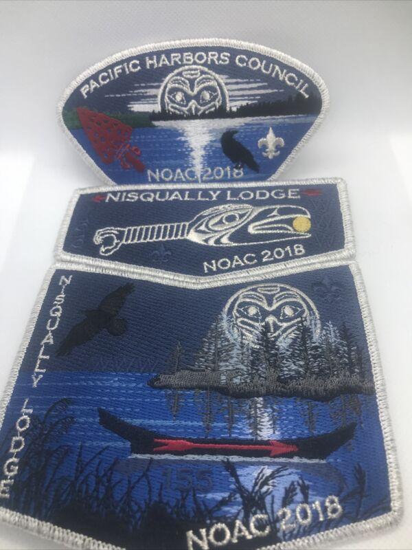 NISQUALLY OA LODGE 155 BSA PACIFIC HARBORS COUNCIL NOAC 2018 3pc Set