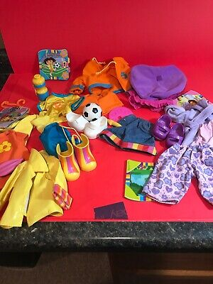DORA THE EXPLORER  doll  outfits with books set of 4  Dora The Explorer Outfits
