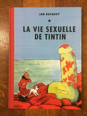 La vie sexuelle de Tintin +lithographie+CP - Parodie/Pastiche num signé NEUF
