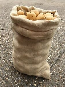 3 x 50kg Extra Large Hessian Jute Veg Potato Storage Sacks Bags Sack Race (New)