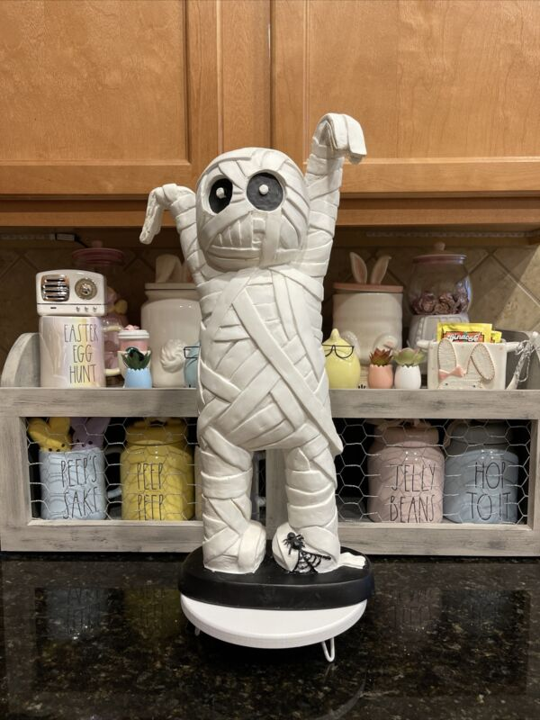 Carl The Mummy XL For Halloween Or Rae Dunn Decor VHTF