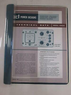 Power Designs Model 5005r Technical Data Used