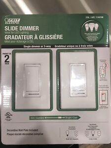 Brand new never used slide dimmer switches $10