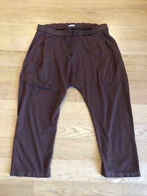 WILLY CHAVARRIA BUFFALO PANT Peruvian Cotton Sweat Pants XL Brown Drawstring