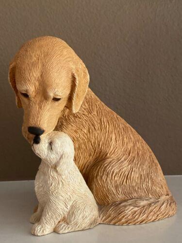 SANDICAST~Golden Retriever & Pup~Sandra Brue~Large Original Size Figurine~1992