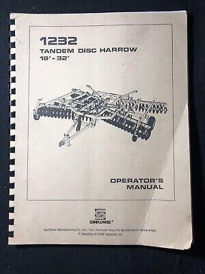 Sunflower 1232 Tandem Disc Harrow 18-32 Operators Manual 485 746