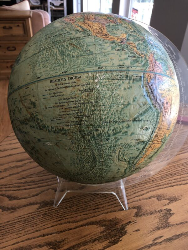 Readers Digest 50s Relief Globe And Stan