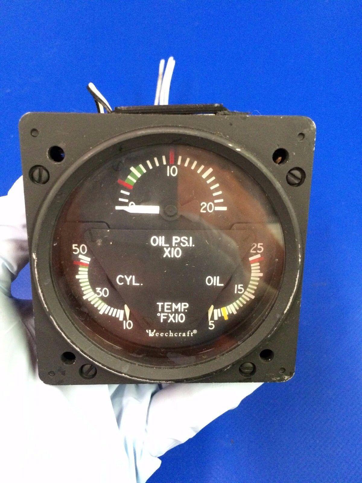 Beech Combo Engine Gauge P/N 96-384058-3 Alt P/N 22-804-032-11 (1016-89)