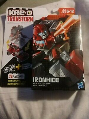New KRE-O Transformers Kreon Battle Changer: 73pc IRONHIDE Building Toy! Hasbro
