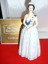 Queen Elizabeth 11 20th Anniversary Royal Doulton Figurine Fulham Gardens Charles Sturt Area Preview