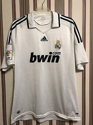 08d0cec46ed REAL MADRID FC 2008 09 Home Soccer Shirt Jersey Men s ADIDAS Sz XL
