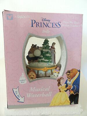 Vintage Disney Princess Belle Beauty & The Beast Musical Snow Globe