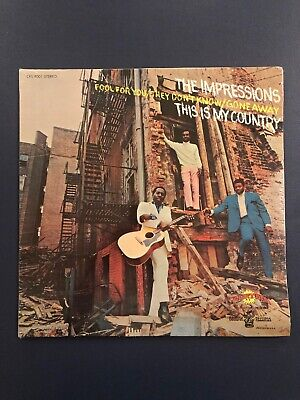 THE IMPRESSIONS This is My Country LP Vinyl SEALED