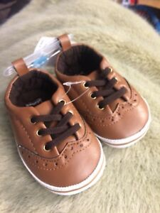 Boys Brown Shoes 3 to 6 months