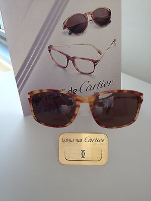 CARTIER SUNGLASSES Jaspe Tigre Roux 56/18-140 Authentic NEW IN BOX (Cartier Female Sunglasses)