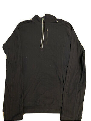 Lululemon Men's Black 1/4 Zip Pullover Shirt Size Medium