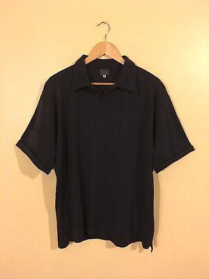 Versace Men's Polo Shirt Black Size XL