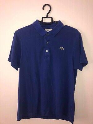 Genuine Authentic Lacoste Blue Polo Shirt Size medium
