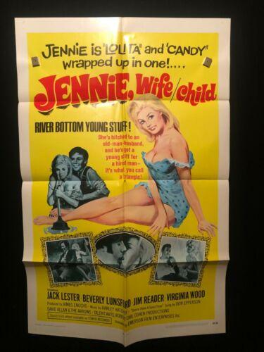 Jennie Wife Child 1969 One Sheet Movie Poster Sexploitation Beverly Lunsford XXX