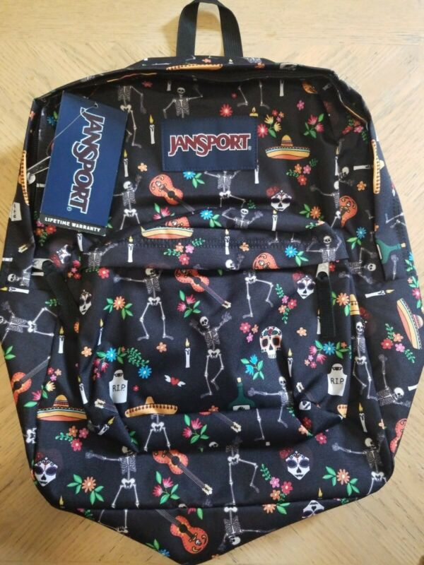 NEW JanSport Day of the Dead Classic Ultralight School Backpack