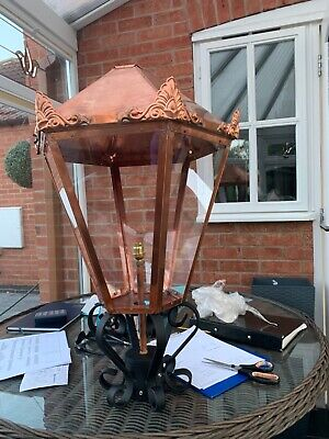 Victorian copper street lamp top