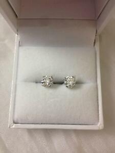 0.67Ct & 0.64Ct Diamond earings, white gold, screw back Brisbane City Brisbane North West Preview