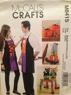 Halloween Owl Patterns (HALLOWEEN ACCESSORIES Apron Cat Owl More - Uncut Sewing PATTERN McCall's)