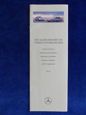 Prospekt Brochure 03.1995 Lacke /& Polster Mercedes-Benz E-Klasse W124