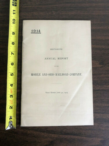 1914 66th Annual Report of the Mobile and Ohio Railroad Company Map