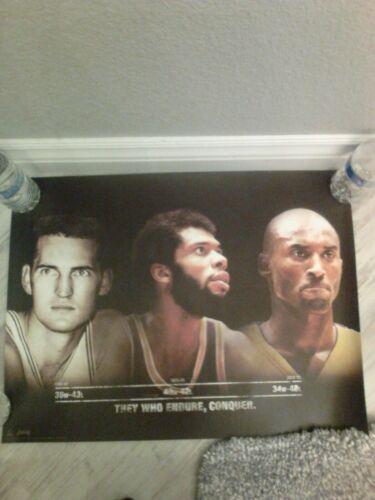 Lakers Jerry West,Kareem Abdul Jabbar and Kobe Bryant Poster