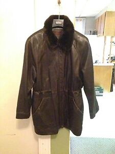 Woman's Danier Leather Coat, Size XL