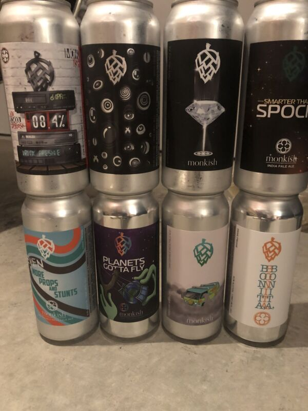 """Monkish  Brewing """"Empty"""" Mixed 8-pack Monkish!"""