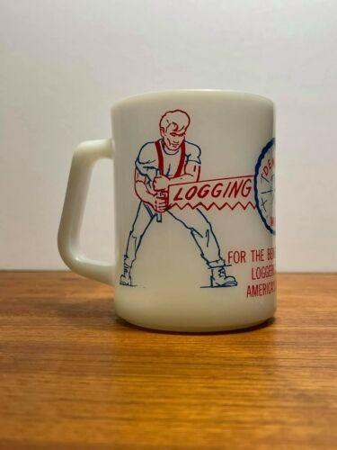 Vintage Federal Glass Deming WA Logging Show  Coffee Mug