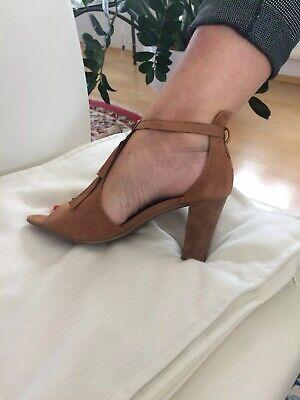 High Heels Sandalette in hellbraun von Marco Tozzi in der Gr. 40 oder 6,5