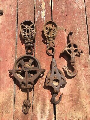 Vintage Antique Barn Hay Trolley Carrier Center Drop Pulley CDP Lot 1