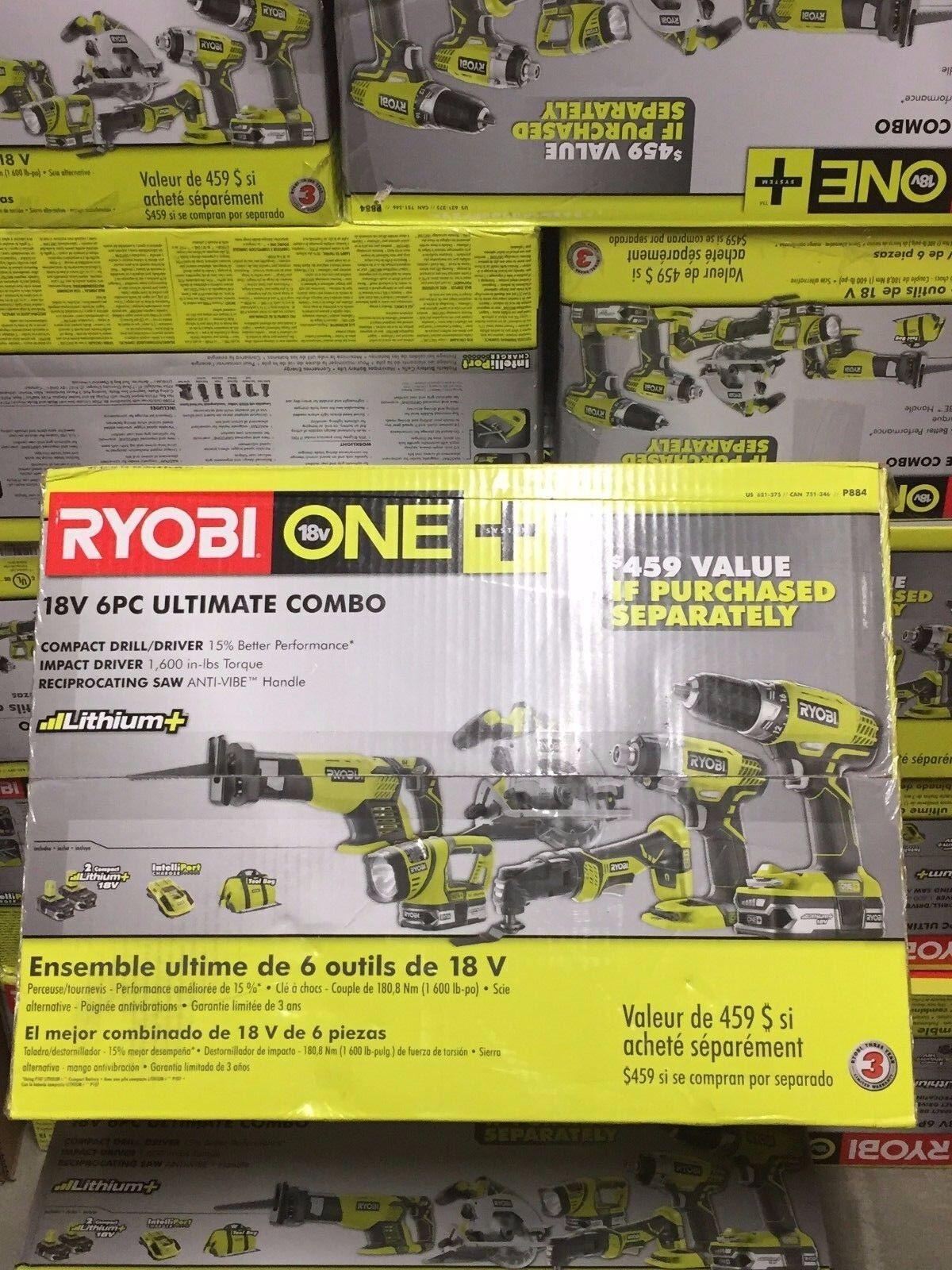 Ryobi P884 One+ Combination Lithium Ion Cordless Power Tool