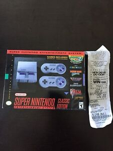 SNES classic brand new with receipt