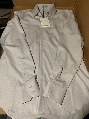$408! NWT Men's Balenciaga Light Grey Cotton Button Dress Shirt 15 3/4 40 WOW!