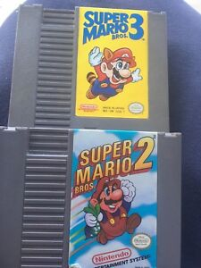 3 Original Nintendo Carts - Super Mario Bros,2,3,  Duck Hunt