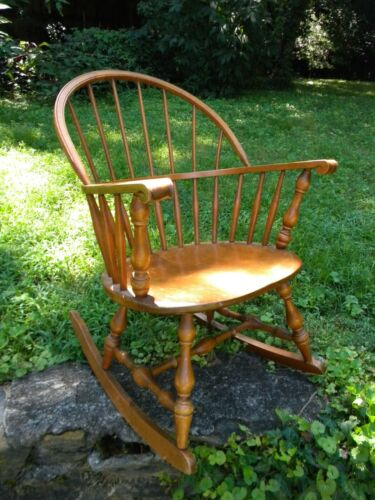 Bent & Bros. Inc. 1867 Windsor Rocking Chair.