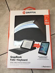 Bnib griffin snapbook folio + keyboard for ipad mini 4