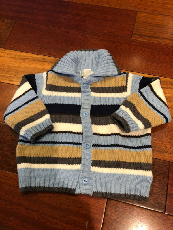 THE CHILDRENS PLACE STRIPED SWEATER SZ-3-6 MONTHS