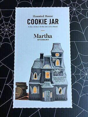 Martha Stewart Halloween Haunted House Spooky Scary Cookie Jar NIB