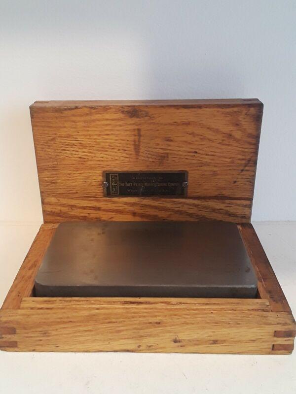 "Taft & Peirce Preicision Surface Plate Square 5""×3""×3/4"" Original Box"