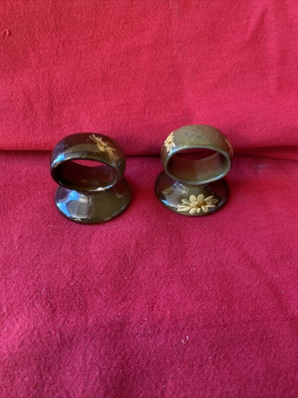 Rare Denver Lonhuda  Pair Of Napkin Rings 1901- 1905