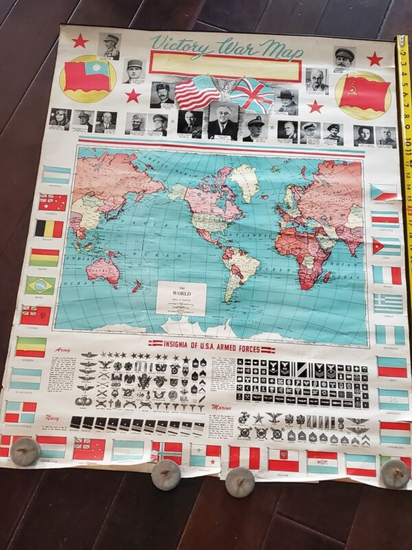 Vintage Victory War Map