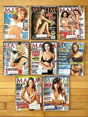 Maxim 2003 lot of 8 magazines