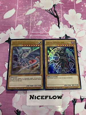 Blue Eyes White Dragon + Dark Magician Ultra Rare 2 Card