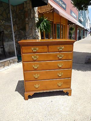 Outstanding Chippendale Maple Two Over Three Drawer Chest 20th Century