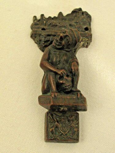 """Antique Brass """"Penrhyn Old Hall"""" Devil  Figural Brass Doorknocker"""